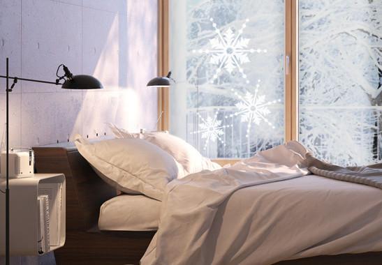 Glasdekor Drei Schneeflocken - Bild 2