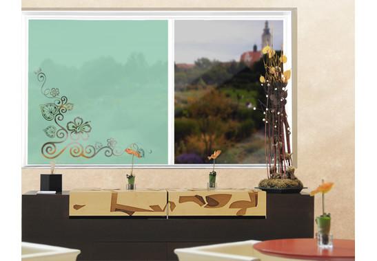 Folienfarbe in Wohnansicht: Refreshing Mint - Sichtschutz Cornerment II