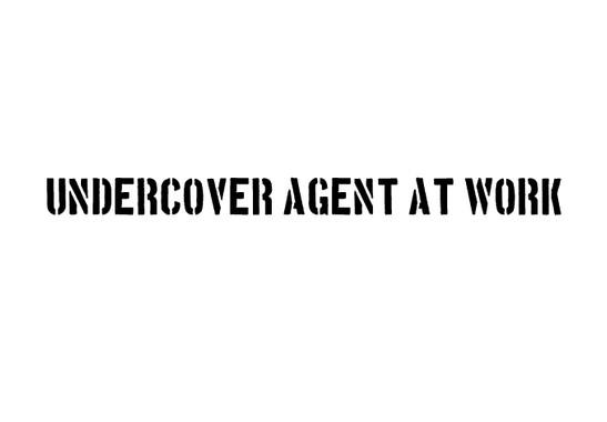 schwarz/weiss Ansicht - Wandtattoo Undercover Agent
