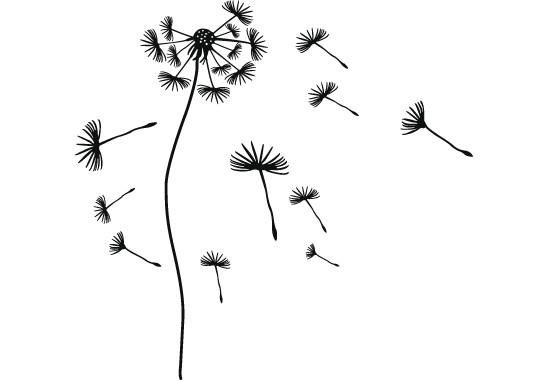 Glasdekor Pusteblumen Schirmchen - Bild 6
