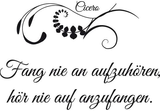 Glasdekor Cicero Zitat - Bild 6