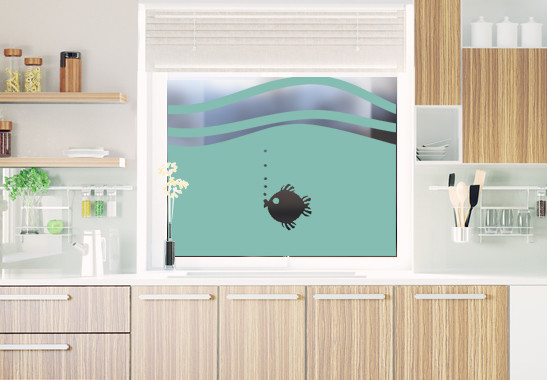 Glasdekor Rundes Fischlein - Bild 5