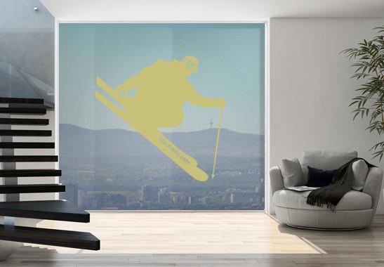 Glasdekor Wunschtext Skispringer - Bild 3