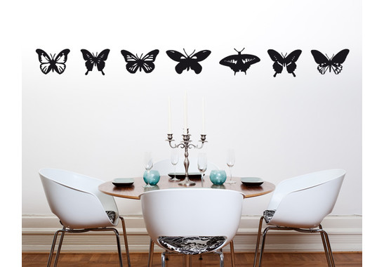 Wandtattoo Schmetterlingsammlung
