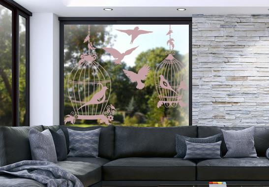 Glasdekor Vogel Voliere - Bild 4