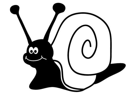 schwarz/weiss Ansicht - Wandtattoo Lustige Schnecke