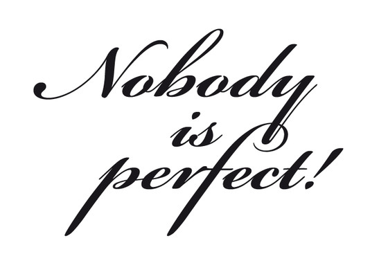 schwarz/weiss Ansicht - Wandtattoo Nobody is perfect 1