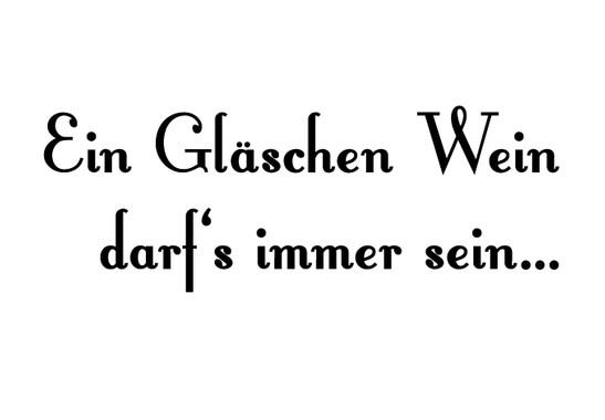 schwarz/weiss Ansicht - Wandtattoo Ein Gläschen Wein