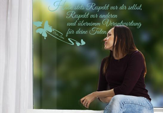 Glasdekor Dalai Lama Zitat - Bild 5