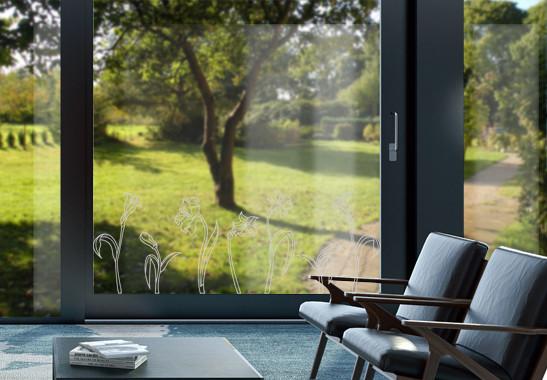 Glasdekor Jugendstil Narzissen - Bild 2