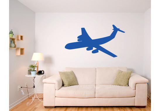Wandtattoo Flugzeug