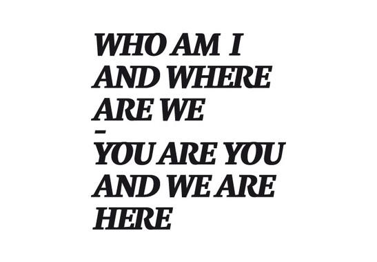 schwarz/weiss Ansicht - Wandtattoo Who am I?