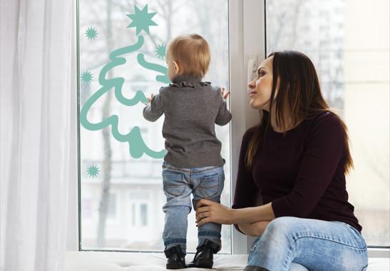Glasdekor Weihnachtswinterbaum - Bild 5