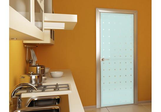 Folienfarbe in Wohnansicht: Refreshing Mint - Sichtschutz Kleine Quadrate III