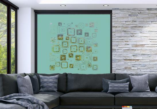 Glasdekor Retro Muster - Bild 5