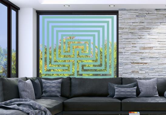 Glasdekor Steinlabyrinth - Bild 5
