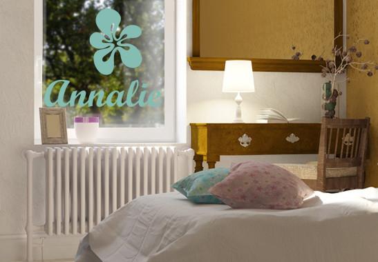 Glasdekor Wunschtext Blühender Name - Bild 5