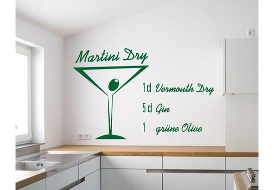 Wandtattoo Martini Dry