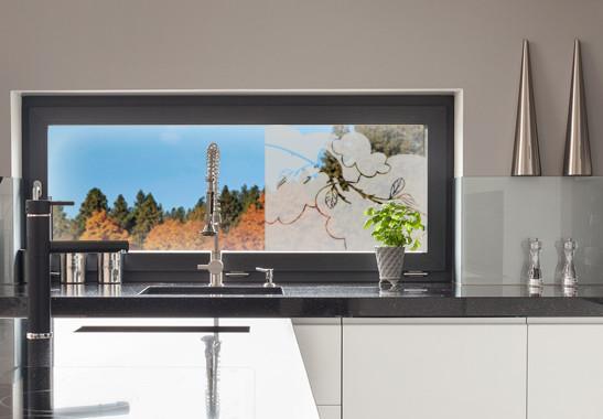 Glasdekor Amsel Zweig - Bild 2