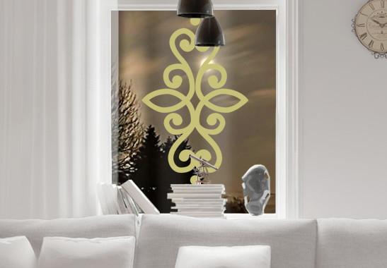 Glasdekor Indisches Ornament - Bild 3