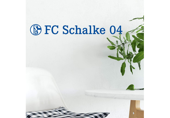 Wandtattoo Schalke 04 Logo mit Schriftzug - trenddeko.ch