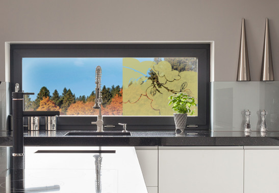 Glasdekor Amsel Zweig - Bild 3