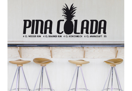 Wandtattoo Pina Colada