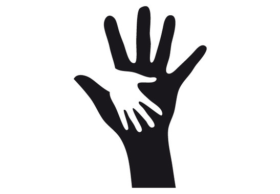 schwarz/weiss Ansicht - Wandtattoo Hände