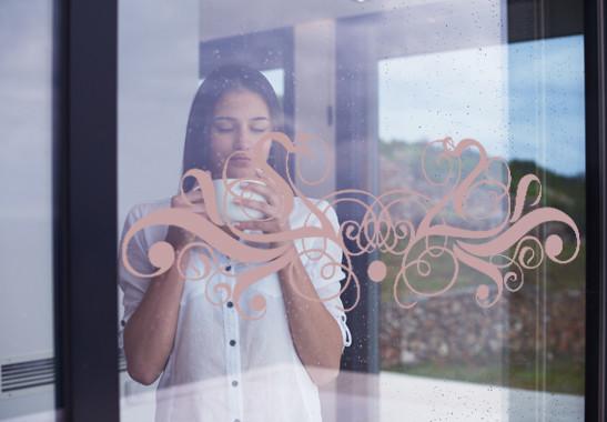 Glasdekor Feines Ornament - Bild 4