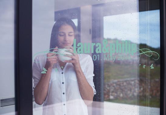 Glasdekor Wunschtext Frühlingshochzeit - Bild 5