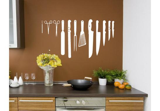 Wandtattoo Kitchen Knifes