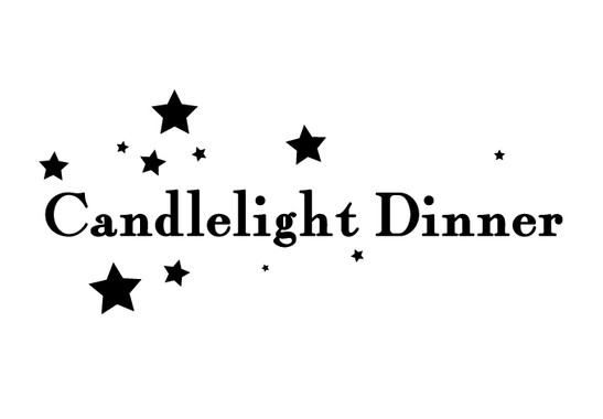 schwarz/weiss Ansicht - Wandtattoo Candlelight Dinner