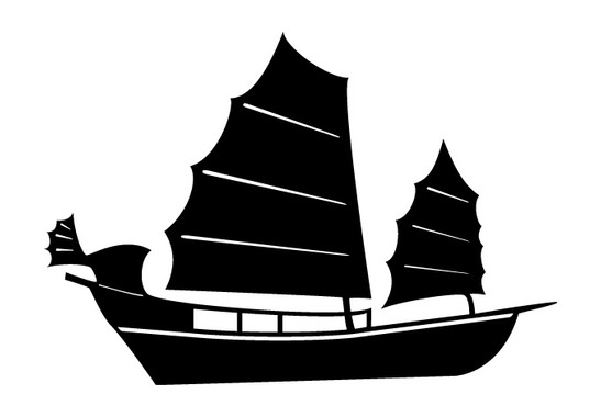 schwarz/weiss Ansicht - Wandtattoo Schiff