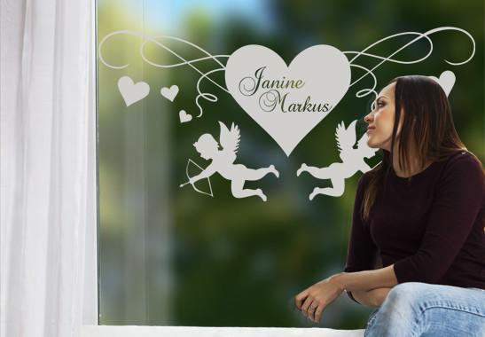 Glasdekor Cupido's Herz - Bild 2
