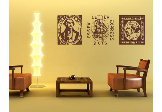 Wandtattoo Antike Briefmarken I