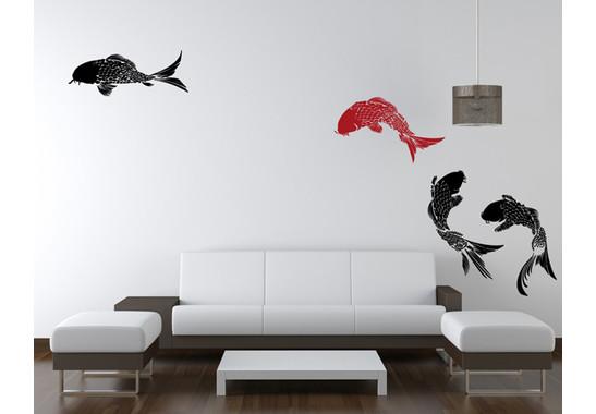 Wandtattoo Koi Fische