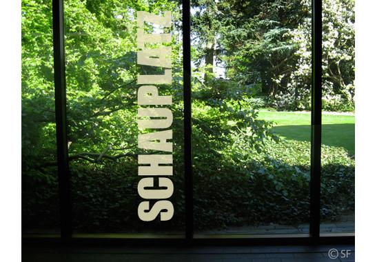 Folienfarbe in Wohnansicht: Sparkling Yellow - Glasdekor Schauplatz II