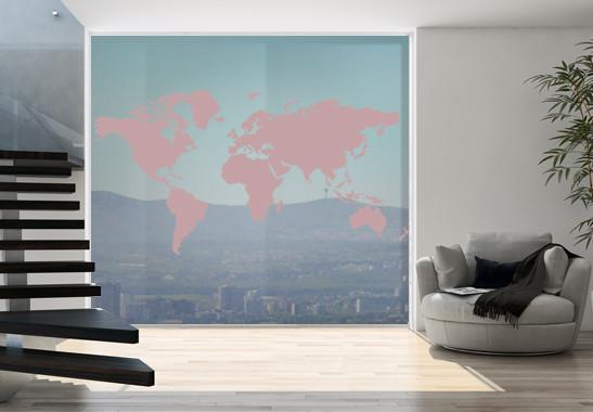 Glasdekor Weltkarte - Bild 4
