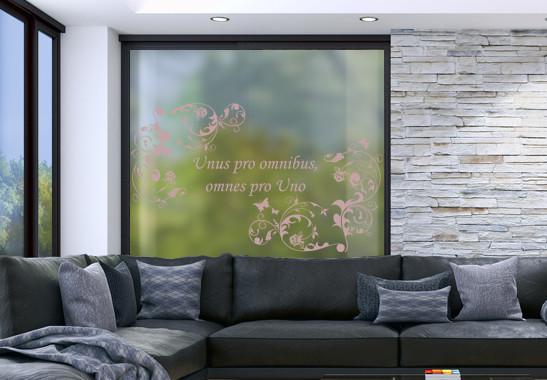 Glasdekor Wunschtext Floraler Rahmen - Bild 4