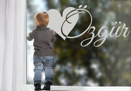 Glasdekor Wunschtext Initiale Ö - Bild 2