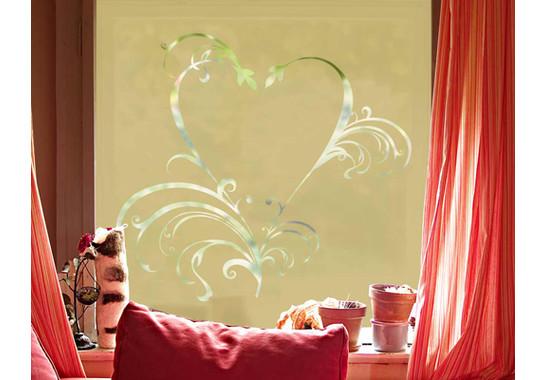Folienfarbe in Wohnansicht: Sparkling Yellow - Sichtschutz Romeo & Julia II