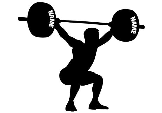 Glasdekor Wunschtext Schwergewichtler - Bild 6