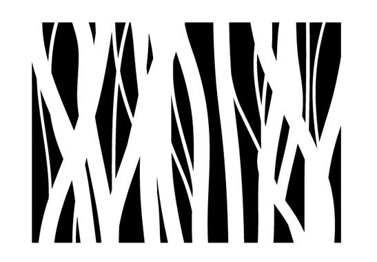 schwarz/weiss Ansicht - Wandtattoo Gräser Schatten
