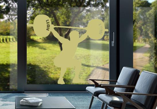 Glasdekor Wunschtext Schwergewichtler - Bild 3