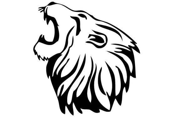 schwarz/weiss Ansicht - Wandtattoo Löwe
