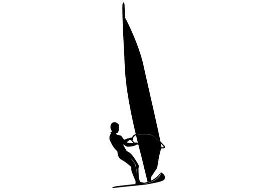 schwarz/weiss Ansicht - Wandtattoo Surfer