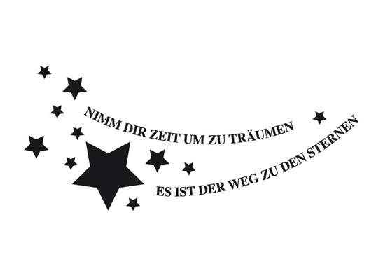 schwarz/weiss Ansicht - Wandtattoo Träumen