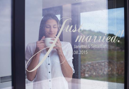 Glasdekor Wunschtext Just Married - Bild 2