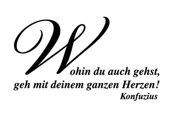 schwarz/weiss Ansicht - Wandtattoo Konfuzius