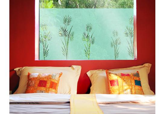 Folienfarbe in Wohnansicht: Refreshing Mint - Sichtschutz Palmenzweig I